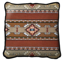 Rimrock Sandstone Hand finished Woven Pillow by Pure Country Weavers.  Made in the USA.  Size 17 x 17 Woven to Last a Lifetime Pillow