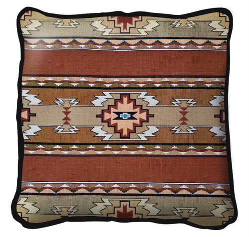 Rimrock Sandstone Hand Finished single sided Woven Pillow Cover.  100% Cotton Made in the USA.  Size 17 x 17 Woven to Last a Lifetime Pillow