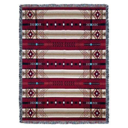 Pure Country Weavers | Antelope Ridge Flag Southwest Blanket | Woven Throw with Fringe Cotton USA 72x54 Tapestry Throw