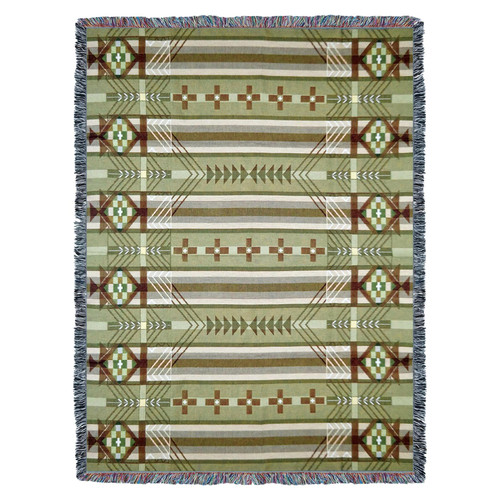 Pure Country Weavers - Antelope Ridge Juniper Southwest Blanket | Woven Tapestry Camp Throw with Fringe Cotton USA 72x54 Tapestry Throw