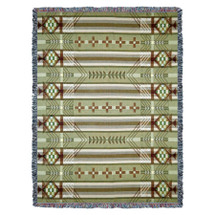 Antelope Ridge - Juniper - Southwest Native American Inspired Tribal Camp - Cotton Woven Blanket Throw - Made in the USA (72x54) Tapestry Throw