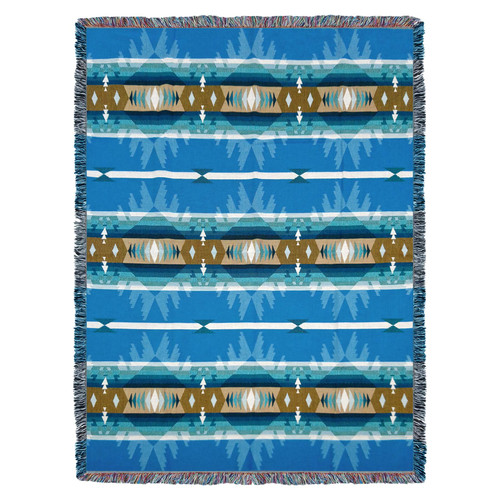 Cimarron Turquoise - Tapestry Throw