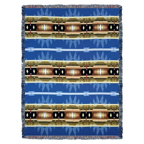 Cimarron Blue - Tapestry Throw
