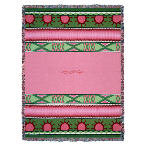 Pure Country Weavers | Concho Springs Rose Southwest Blanket | Woven Throw with Fringe Cotton USA 72x54 Tapestry Throw
