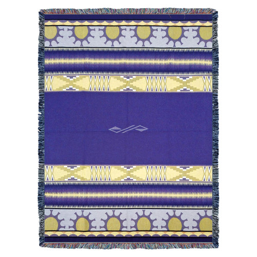 Pure Country Weavers | Concho Springs Plum Southwest Blanket | Woven Tapestry Camp Throw with Fringe Cotton USA 72x54 Tapestry Throw