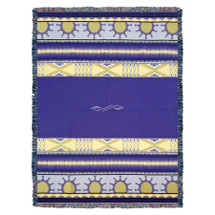 Concho Springs - Plum - Southwest Native American Inspired Tribal Camp - Cotton Woven Blanket Throw - Made in the USA (72x54) Tapestry Throw