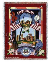 State of Missouri - Dwight D Kirkland - Cotton Woven Blanket Throw - Made in the USA (72x54) Tapestry Throw