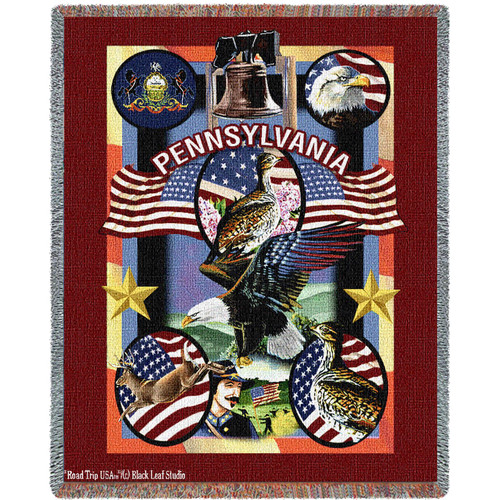 State Of Pennsylvania by Dwight D Kirkland Tapestry Throw