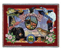 State Of Vermont by Dwight D Kirkland Tapestry Throw
