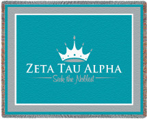 Zeta Tau Alpha Tapestry Throw Blanket