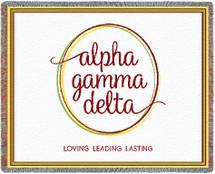 Alpha Gamma Delta Throw