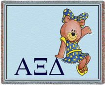 Alpha Xi Delta Tapestry Throw