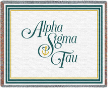 Alpha Sigma Tau Tapestry Throw