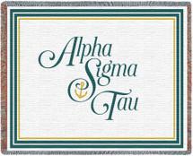 Alpha Sigma Tau Tapestry Throw