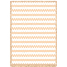 Pure Country Weavers - Brittany Natural Woven Throw Blanket With Artistic Textured Design USA Made Size 70x50 Afghan