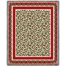 Strawberry Festival Tapestry Throw