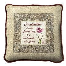 Grandmother Gifts Textured Hand Finished Elegant Woven Throw Pillow Cover 100% Cotton Made in the USA Size 17x17 Pillow