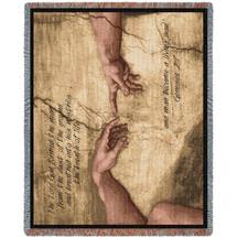 Genesis 2:7 Adam Tapestry Throw