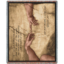 Pure Country Weavers - Genesis 2:7 Adam Woven Large Soft Comforting Throw Blanket With Artistic Textured Design Cotton USA 72x54 Tapestry Throw