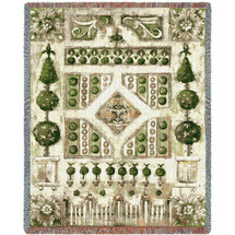 Pure Country Weavers - Garden Gate Woven Large Soft Comforting Throw Blanket With Artistic Textured Design Cotton USA 72x54 Tapestry Throw