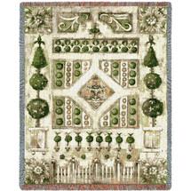Garden Gate Tapestry Throw
