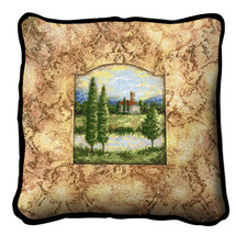 Casa Torre Textured Hand Finished Elegant Woven Throw Pillow Cover 100% Cotton Made in the USA Size 17x17 Pillow