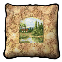 Casa Alto Textured Hand Finished Elegant Woven Throw Pillow Cover 100% Cotton Made in the USA Size 17x17 Pillow