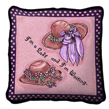 Pink Ladies Wait Pillow Pillow