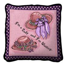 Pink Ladies Wait Pillow Pillow
