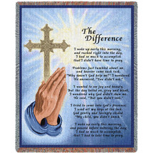 The Difference - Poem - Tapestry Throw