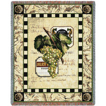 Grapes and Label I Blanket Tapestry Throw