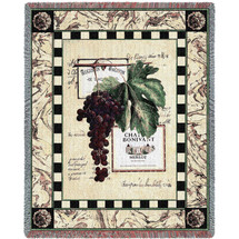 Grapes and Labels IV Blanket Tapestry Throw