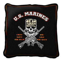 Mess With Best Textured Hand Finished Elegant Woven Throw Pillow Cover 100% Cotton Made in the USA Size 17x17 Pillow