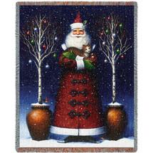 Kitty Santa Blanket Tapestry Throw