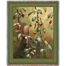 Cherry Chase Woven Large Soft Comforting Throw Blanket With Artistic Textured Design Cotton USA 72x54 Tapestry Throw