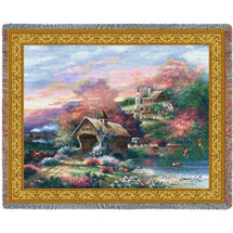 Old Mill Creek Tapestry Throw