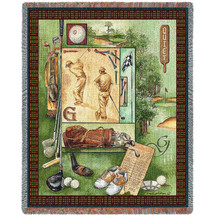 Pure Country Weavers - Quiet Golf Lover Woven Large Soft Comforting Throw Blanket With Artistic Textured Design Cotton USA 72x54 Tapestry Throw