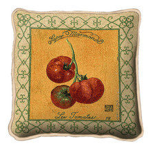 Tomato Textured Hand Finished Elegant Woven Throw Pillow Cover 100% Cotton Made in the USA Size 17x17 Pillow