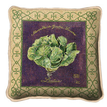 Cabbage Textured Hand Finished Elegant Woven Throw Pillow Cover 100% Cotton Made in the USA Size 17x17 Pillow