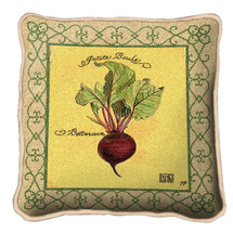 Beets Textured Hand Finished Elegant Woven Throw Pillow Cover 100% Cotton Made in the USA Size 17x17 Pillow