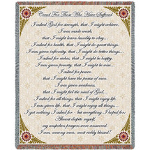 Creed For Those Who Suffer - Sympathy Tapestry Throw
