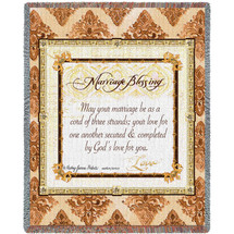 Marriage Blessing Tapestry Throw