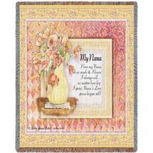 My Nana Tapestry Throw