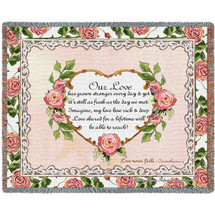 Our Love Poem - Tapestry Throw