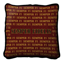 Pure Country Weavers - Semper Fi Textured Hand Finished Elegant Woven Throw Pillow Cover 100% Cotton Made in the USA Size 17x17 Pillow