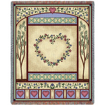 Love Quilt II Blanket Tapestry Throw