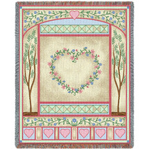 Love Quilt Pastel Blanket Tapestry Throw