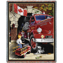 Canadian Childhood Dreams Blanket Tapestry Throw