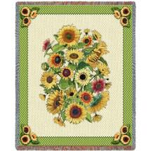 Sunflower Garden Blanket Tapestry Throw