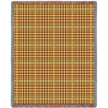 Herringbone Russet Blanket Tapestry Throw